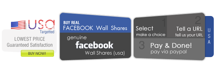 Facebook Wall Shares - USA