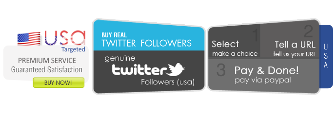 Buy USA Twitter followers