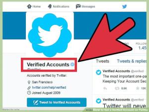 verified Twitter account